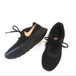 Nike   Black Metallic Rose Gold Tanjun Sneakers
